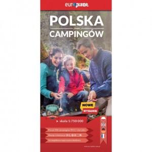 Europilot Polska Mapa Campingów 1 : 750 000
