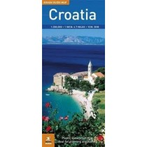 Chorwacja Mapa: Rough Guide Map Croatia