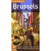 Mapa Bruksela Rough Guide Brussels Map